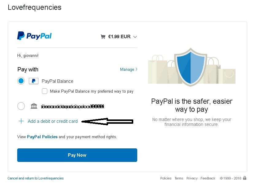 How to pay without creating a PayPal account – Giovanni Biancofiore